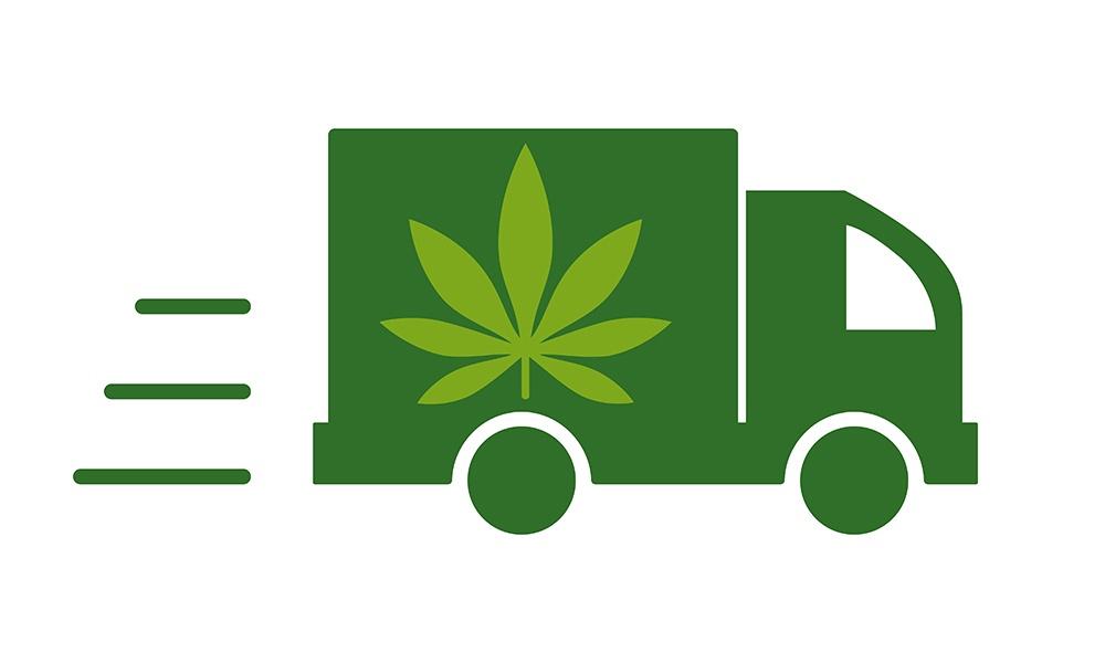marijuana delivery truck