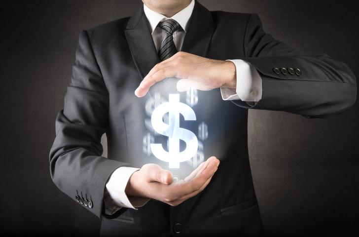 Man with Money Symbol